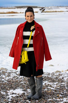 Zara sweater - Hunter boots - asos coat - 31 Phillip Lim purse - Zara skirt