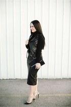 shirt - bag - skirt - Valentino heels - vest