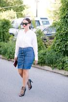 Forever 21 skirt - HOBO bag - Forever 21 blouse - grey ant glasses