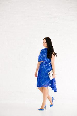 balenciaga bag - asos skirt - Manolo Blahnik heels - asos top