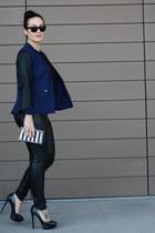 Alexander McQueen ring - Nordstrom blazer - Zara bag - Ray Ban sunglasses