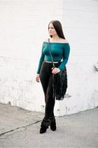 asos shirt - Saint Laurent boots - asos jeans - asos belt