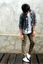 H&M scarf - H&M sweater - hidden agenda pants - asos shoes