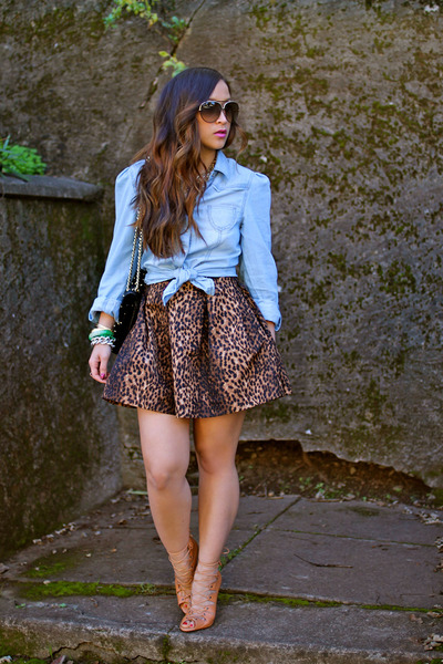 leopard Zara skirt - Schutz Shoes heels