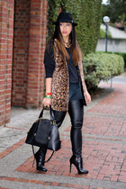 leopard fur Alice  Olivia vest - Marc Jacobs bag - BCBGeneration pants