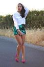Diy-shorts-white-blouse-equipment-blouse-purple-pink-zara-pumps