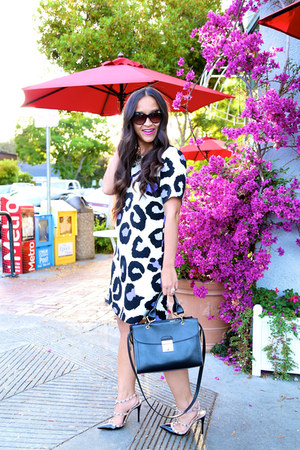 Marc Jacobs bag - leopard shift John Zack dress - Valentino pumps