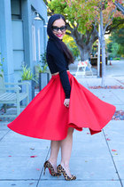 full midi red KTRcollection skirt