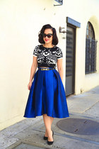 full midi blue KTRcollection skirt