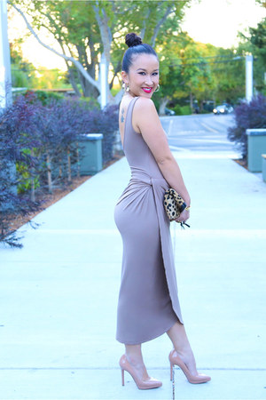KTRcollection dress - leopard clutch bag