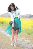 Zara skirt - H&M jacket - strappy sandals Zara sandals