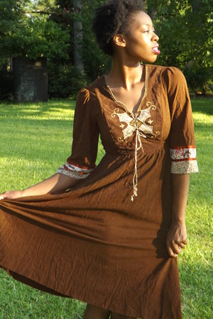 suede vintage dress