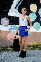 Forever 21 shoes - Forever 21 skirt - H&M bag