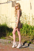 Forever 21 dress - vintage purse - Jeffrey Campbell shoes