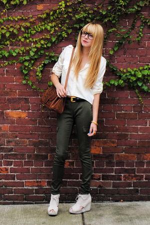 Forever 21 pants - Jeffrey Campbell shoes - Vinatge bag - H&M shirt