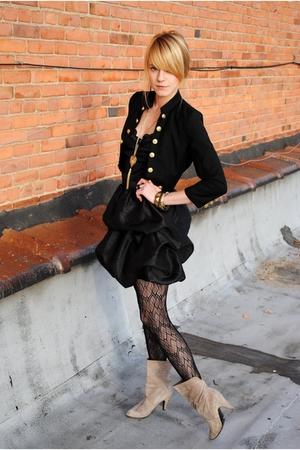 Forever 21 skirt - vintage intimate - vintage - Target tights - Forever 21 jacke
