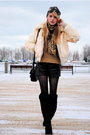 Forever-21-shorts-oscar-dela-renta-sweater-black-chinese-laundry-boots-vin