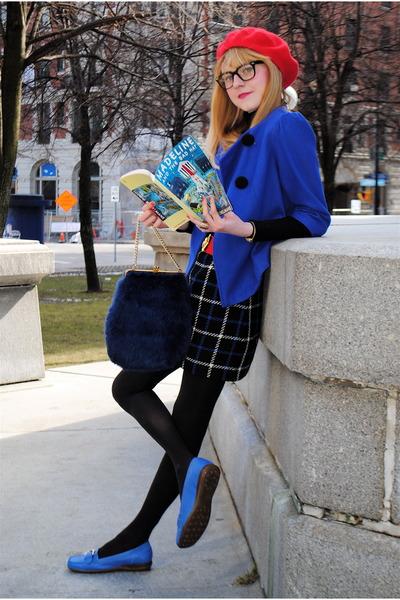 vintage hat - vintage shoes - Urban Outfitters coat - vintage skirt