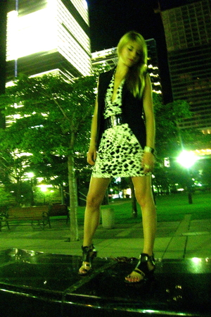 vest - Forever 21 dress - Urban Outfitters shoes - Forever 21 belt - thrifted br