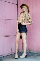 vintage shoes - vintage blouse - vintage shirt