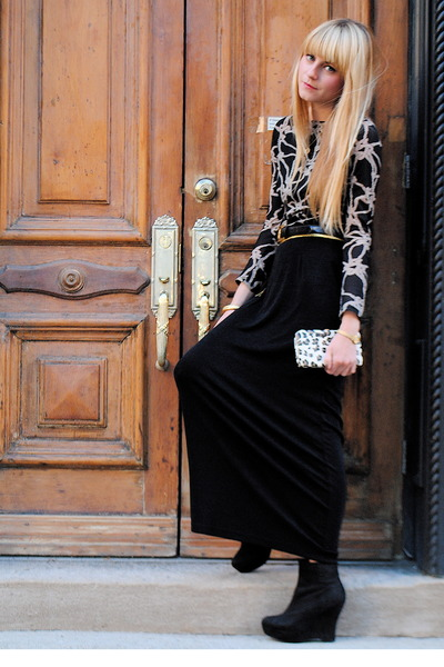 vintage skirt - vintage blouse - Forever 21 shoes - tied up and tousled belt
