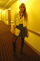 Forever 21 skirt - thirfted purse - Target tights - Urban Outfitters boots - nec