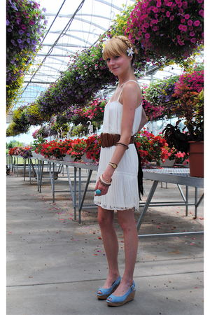 Michael Kors shoes - H&M dress - Forever 21 belt - Forever 21 accessories