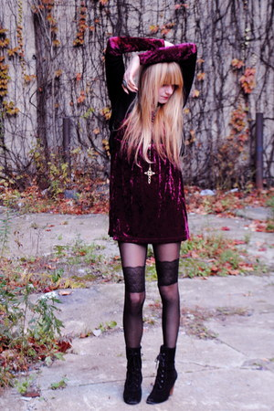 Forever 21 dress - Deena & Ozzy boots