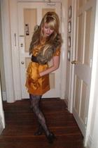 dress - Forever 21 belt - H&M - tights - shoes