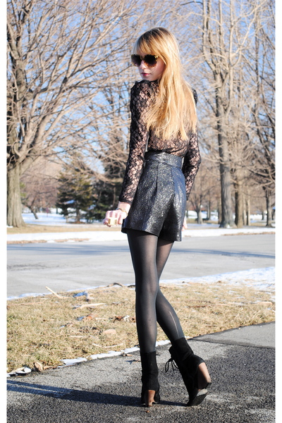 Forever 21 shorts - Urban Outfitters blouse - Urban Outfitters boots - Forever 2