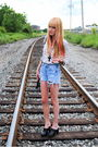 Forever-21-shoes-vintage-shirt-levis-shorts