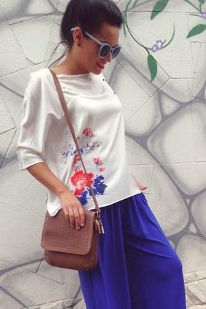caramel bag bag - sunglasses - pants - top