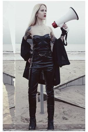 black pvc Femme Luxe bra - black pvc Femme Luxe pants