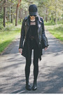 Black-faux-leather-missguided-jacket-black-h-m-pants