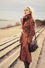 Burnt-orange-leather-coat-beige-lace-h-m-dress-zara-jacket