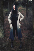 black platform zaful boots - ombre Rosewholesale coat - black baseball zaful hat