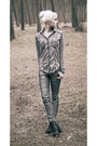 Black-h-m-boots-silver-only-jeans-heather-gray-cotton-roxy-shirt
