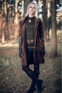 Dark-brown-velvet-b-young-coat-black-clarks-boots