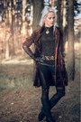 Black-clarks-boots-dark-brown-velvet-b-young-coat