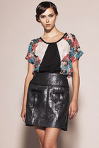 Clap Your Hands Top- Floral Silk Chiffon Tee