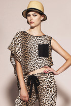 Day Too Soon Top- Silk Leopard Asymmetrical Top