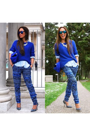 blue cotton on pants
