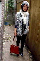thrifted blazer - blackmarket purse - le chateau hat - Garage Sale shoes - Forev