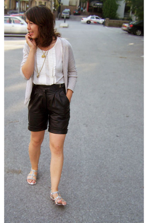 DIY Leather Shorts