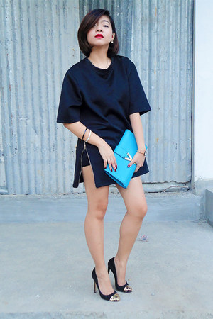 Zara shirt - Yves Saint Laurent purse - dune heels - Gucci watch