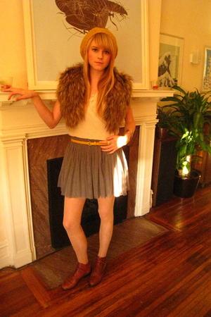 Forever 21 skirt - Forever 21 - H&M - thrift boots