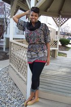 jeggings Old Navy jeans - H&M scarf - Moda flats - Angie top