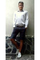 dark gray WPM pants - off white kec Di Guan shoes