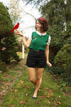 swapped vintage vest - American Apparel shorts - fletcher by lyell blouse