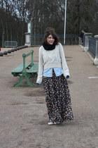 floral romeo & juliet dress - fisherman H&M sweater - denim Uniqlo shirt